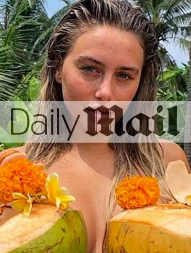 Ellie Brown at Bliss Bali retreat, in Daily Mail