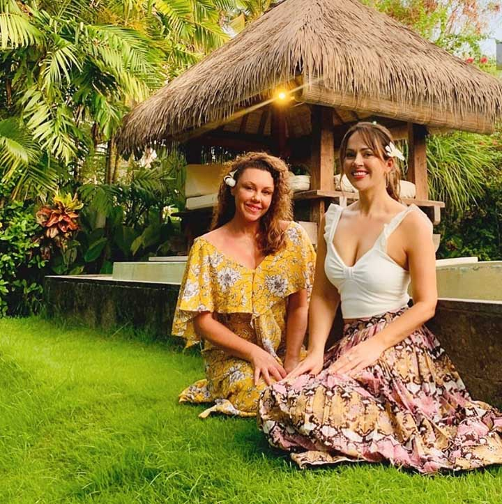 Hayley Sparkes in Bliss Bali retreat garden