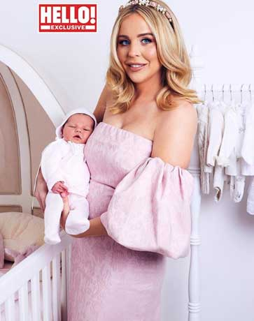 Lydia Bright with new baby - Hello Magazine