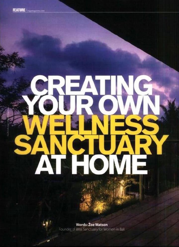 Yoga Magazine Zoe Watson feature Create your own wellness sanctuary at home