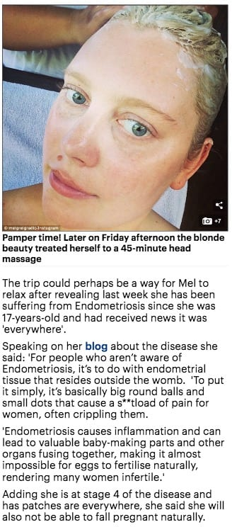 Mel Greig visits Bliss Bali retreat, Daily Mail online