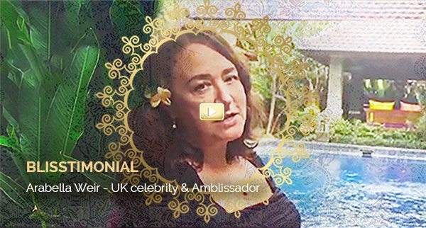 Blisstimonial Video: Arabella Weir - UK celebrity and Amblissador